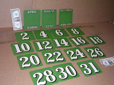 CALENDAR CARDS - Full Pad .. all Dates & Months - VINTAGE NOS -Donaldson Sign Co