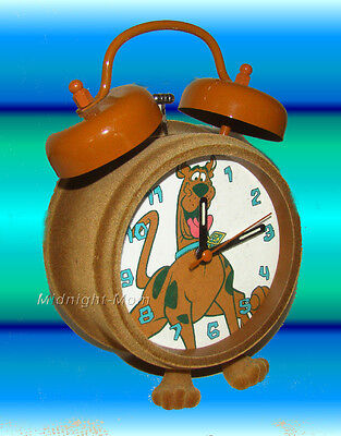 SCOOBY-Doo - FUZZY Double Bell ALARM CLOCK - Tested - Works GREAT!