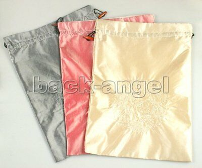 wholesale 3PCS VOGUE SILK EMBROIDERED Clothes&SHOE bag