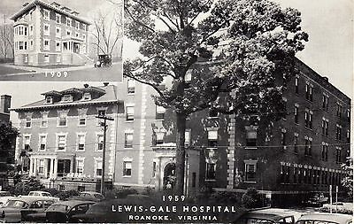 1959 ROANOKE VA - 1909-1959 Lewis-Gale Hospital - B&W w/ inset