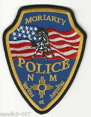 Moriarty Police State of NEW MEXICO NM Shoulder Patch