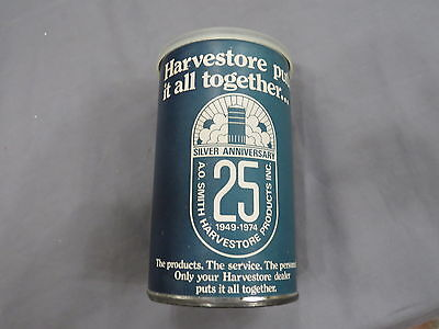 Vintage HARVESTORE advertising 25th Ann. Puzzle in Advertising Can 1974 Silo