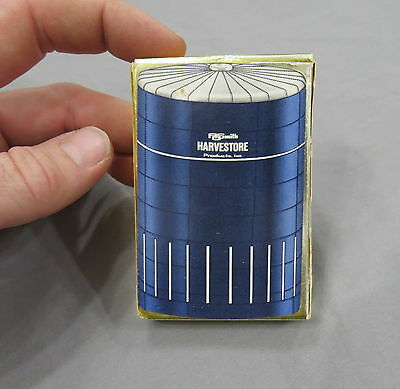 Vintage HARVESTORE advertising Playing Cards 1960's EARLY Full Deck in Box RARE!
