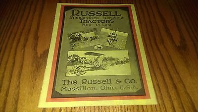 Russell Standardized Kerosene Tractors Brochure Catalog Book Farming Farm