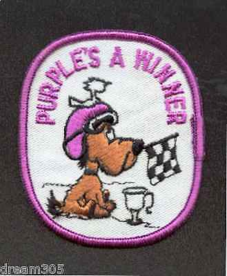 Arctic Cat Snowmobile PURPLE IS A WINNER Vintage Patch for hat or jacket!