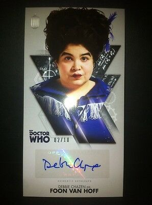 TOPPS Dr Who Tenth Doctor Adventures Autograph Auto Card #2/10 Debbie Chasen BBC