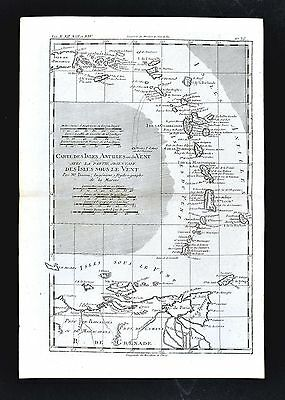 1779 Bonne Map - Antilles Islands Puerto Rico Trinidad Martinique West Indies
