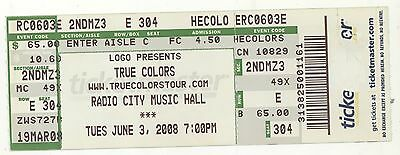 CYNDI LAUPER B52s MARGARET CHO 6/3/08 NY Radio City True Colors Concert Ticket!