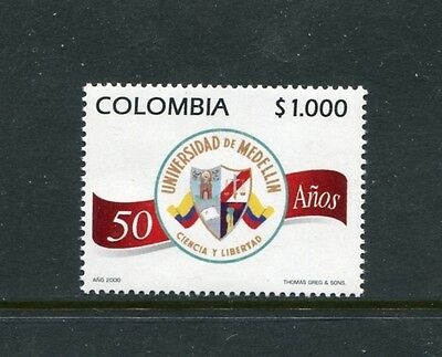 Colombia 1167, MNH, University of Medellin 50th Ann. 2000. x23437