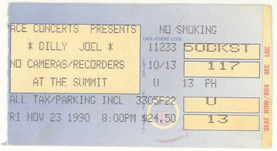 Rare BILLY JOEL 11/23/90 Houston TX The Summit Concert Ticket Stub!