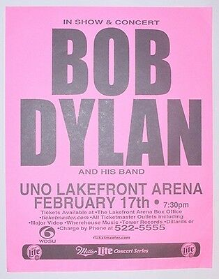 Bob Dylan 2/17/02 New Orleans Concert Poster from the UNO Lakefront Arena!