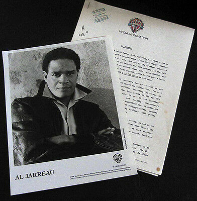 RARE Al Jarreau 1986 L Is For Lover Press Kit with Photo! A21