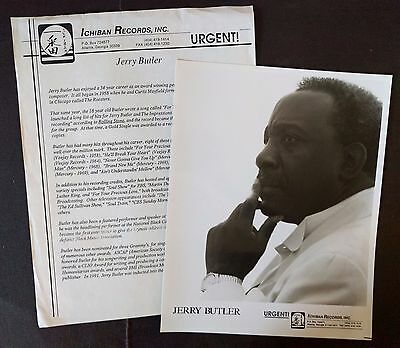 RARE Jerry Butler Press Kit for Time & Faith! Photo M99