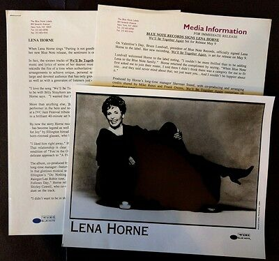 RARE Lena Horne Press Kit for We'll Be Together Again! Photo O90