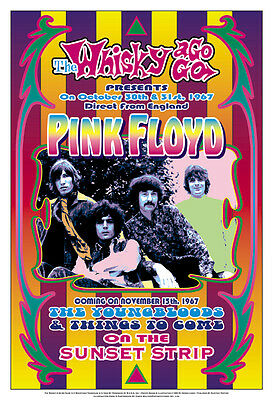 Classic Rock: Pink Floyd at  the Whisky A Go Go L.A. Concert Poster Circa 1967