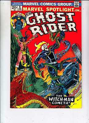 Marvel Spotlight 8 strict VF/NM+ 9.1  on Ghost Rider 1973  The Witch-Man Cometh