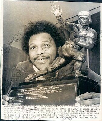 1975 Ohio Buckeyes Football Player Archie Griffin Heisman Trophy Press Photo