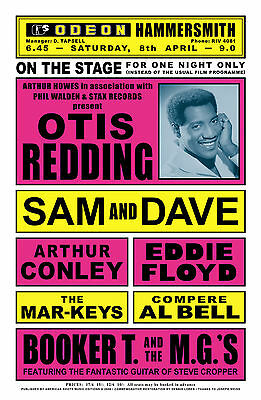 Stax Soul: Otis Redding  & Sam & Dave with Booker T. & MG's Concert Poster 1967