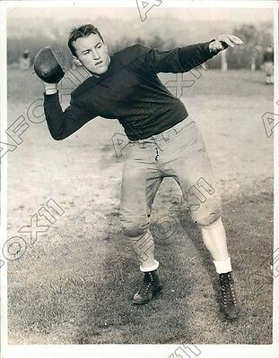 1936 Washington Huskies Football Player Halfback Joe Dubsky Press Photo