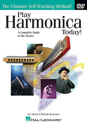 Play Harmonica Today 10-Hole C Diatonic Harp Learn Beginner Lesson Video DVD NEW
