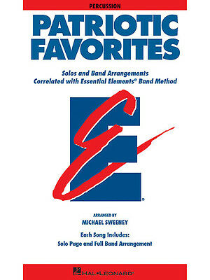 Patriotic Favorites for Percussion Essential Elements Band Method Music Book NEW