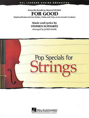 For Good Wicked Musical Vocal Duet Strings Score & Parts Violin Sheet Music NEW