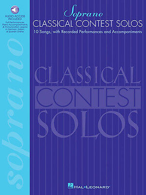 Classical Contest Solos for Soprano Vocal Sheet Music Book & Online Audio NEW