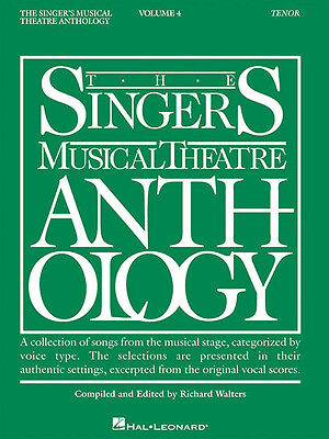 Singer's Musical Theatre Anthology Vol 4 Tenor Vocal Piano Sheet Music Book NEW