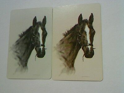 (2) Swap/Playing Cards - Pair Horse Heads (Giordano)