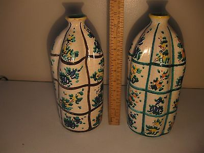 Pair of Matching Signed CELLINI Pottery Vases #515 Unique Collectibles