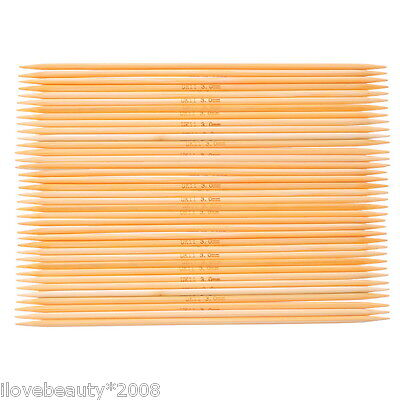 5PCs Bamboo Double Pointed Needles Natural UK11 3.0mm 15cm Long