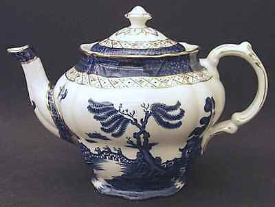 Booths REAL OLD WILLOW BLUE Tea Pot 38724