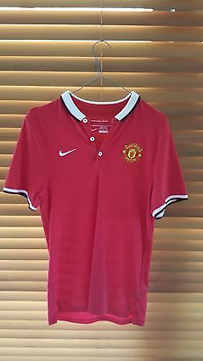 Genuine Nike Manchester United polo shirt size small
