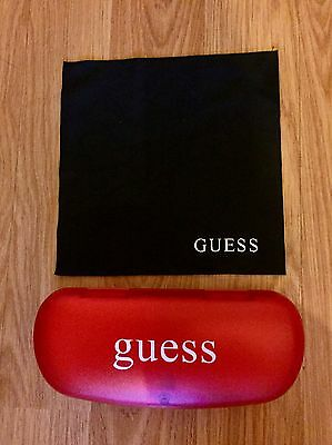 Brand New Red Guess Glasses Case & Black Cleaning Cloth