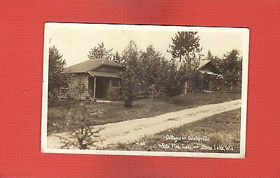 RPPC Stone Lake,Sawyer County,WI Wisconsin,Cottages,Geisterville,White Fish Lake