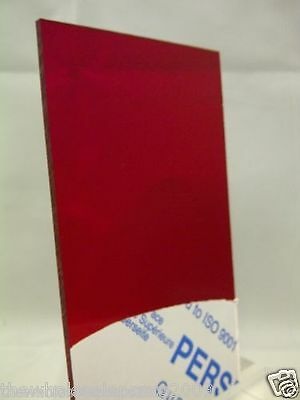 Perspex Acrylic Sheet Tinted Red 4401 Cast 3Mm A4 Cast Transparent Plastic Sheet