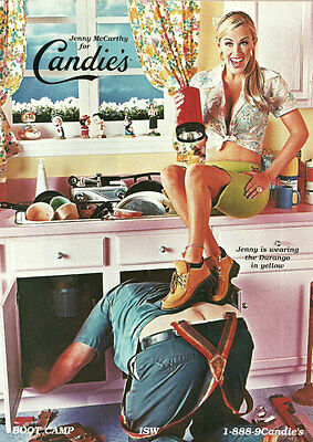 Modern Print AD CANDIES Shoes Durango w/ Jenny McCarthy and Plumber -122814
