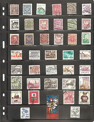 Sheet Of 39 Poland  Fine Used   Stamps