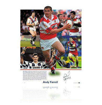 Andy Farrell signed print - Wigan Warrior Autograph