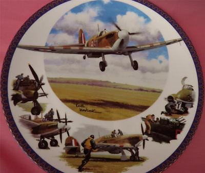 Royal Worcester Raf Spitfire Plane Plate Fighter Command For King And Country