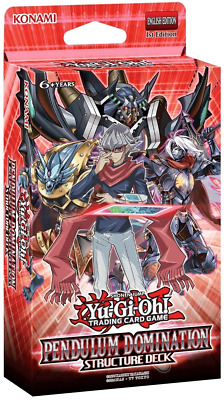 YuGiOh! Pendulum Domination Structure Deck: 43 Cards + Game Mat + Guide - No Box
