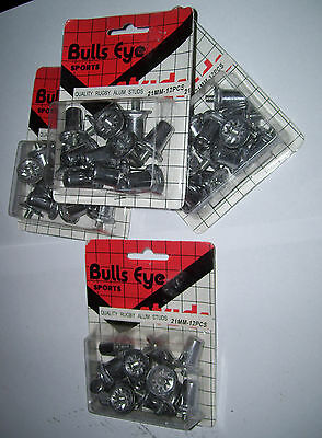 4 Packets Bulls Eye Sports Rugby Alum Studs 21Mm 12 Peices