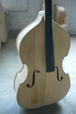 Hand made white/unfinished upright bass 3/4,spruce top