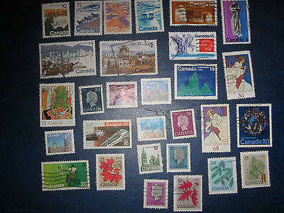 A small selection of old canadian stamps