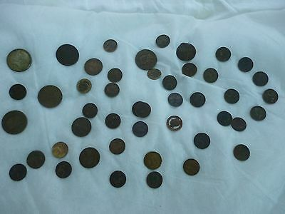 Old Coins, mixed lot, British and Foreign, approx 45 coins in total