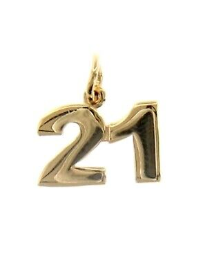 Bijoux et montres Joaillerie 18K YELLOW GOLD NUMBER 22 TWENTY TWO PENDANT CHARM .7 INCHES 17 MM MADE IN ITALY