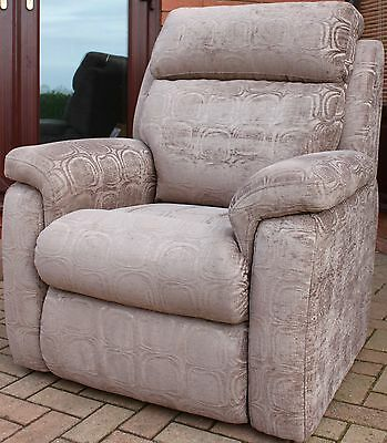 Dfs Luxury Electric Riser Rise Recline Recliner Dual Motor Grey Chenille Chair
