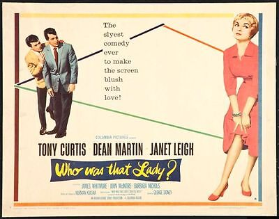 WHO WAS THAT LADY -1960-orig rolled 22x28 movie poster- JANET LEIGH, D.MARTN - B