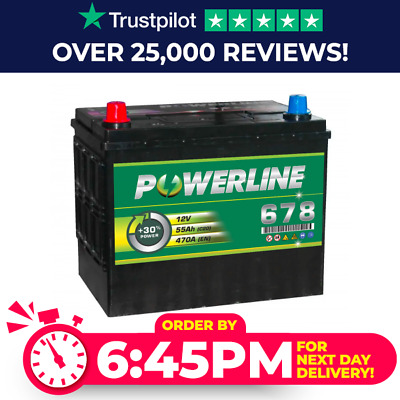 12V Powerline (Type 678) Deep Cycle & Starting Leisure Battery