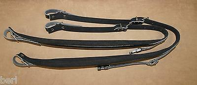 Pair of belts shoulder straps leather + padding 8 cm for accordion chromatic